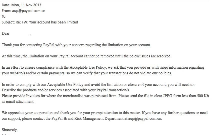 Aup paypal com